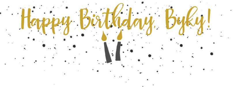 Happy Birthday, Byky graphic